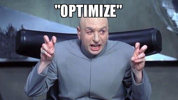 optimize meme