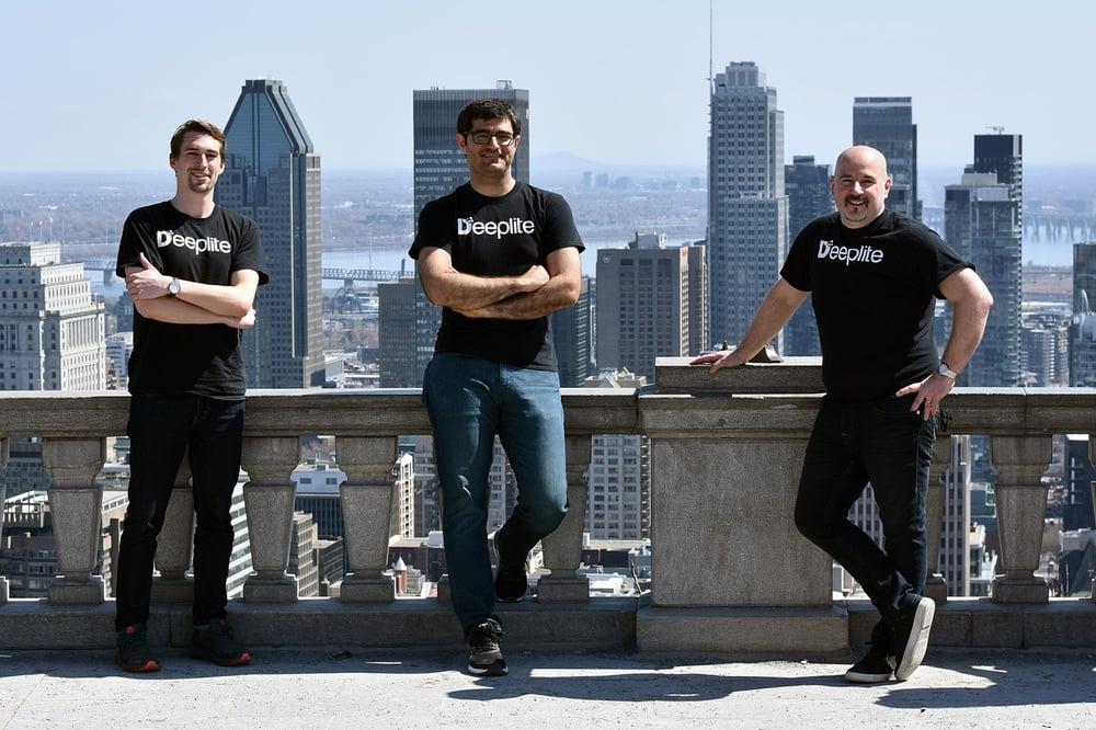 Deeplite co-founders Davis Sawyer, Ehsan Saboori and Nick Romano